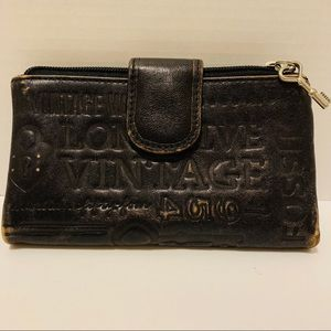 Fossil Factory Distressed Leather Wallet